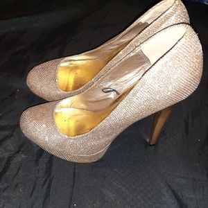Gold glittery size 11 heels